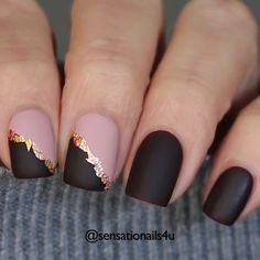 Girls Nail Designs, Nail Art Designs Videos, Nail Art Videos, Plum Nails, Neutral Nails, Gel Nails, Ring Finger Nails, Finger Nail Art, Gorgeous Nails