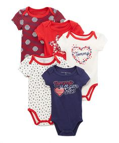 This Navy Heart Bodysuit Set - Infant is perfect! #zulilyfinds