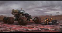 ArtStation - Vehicle on polluted earth, Keyi Li