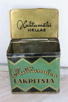 Vintage Finnish Liquorice Tin.
