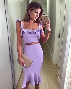Two piece mermaid purple party dress, Shop plus-sized prom dresses for curvy figures and plus-size party dresses. Ball gowns for prom in plus sizes and short plus-sized prom dresses for Freshman Homecoming Dresses, Two Piece Homecoming Dress, Dress Prom, Purple Party Dress, Sexy Party Dress, Belted Dress, Bodycon Dress, Purple Two Piece, Boho Dress