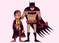 SOUL MATES: ORPHANS - Potter x Batman  By Dan Hipp