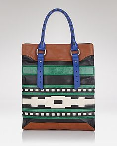 The Stella Tote. A juxtaposition of cultural inspired art block and textural layering. $425