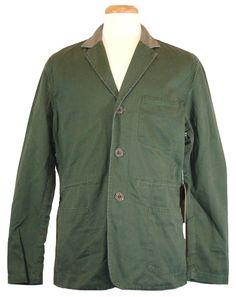 NEW Lucky Brand Mens Jacket Riviera Club Goleta Field Blazer Green XXL 2XL $275 #LuckyBrand #BasicJacket