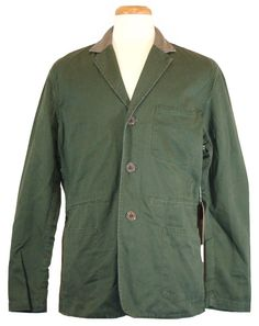 lucky brand long sleeve cotton blues solid thermal shirt new lucky brand mens jacket riviera club goleta field blazer green xxl 2xl 275