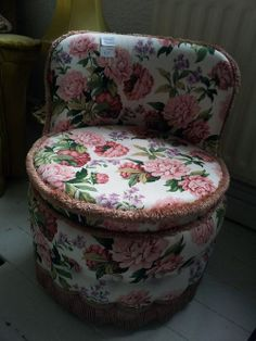 how cute is this! floral seat for the boudoir! £45