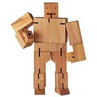 The perfect desk toy. Morph from a wooden cube to a robot!