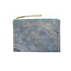 Studded Denim, Pouch, Bags, Fashion, Handbags, Moda, Fashion Styles, Sachets, Porch