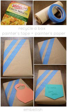 Lemon Jitters: DIY: Gift Wrap for Men