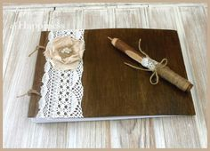 Wedding Guest Book wooden  Rustic Wedding Advice Book Vows Book Rustic Tree Bransh Pen Rustic Wedding Book Shabby Chic Vow book