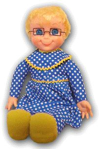 I had a Mrs. Beasley doll that talked just like the one Buffy had in the show.  I don't remember the name of the show.  I always called it Buffy and Jody.