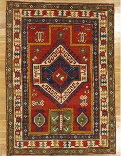 "Fachralo prayer Kazak rug,Southwest Caucasus,circa 1880.Measurements of the piece:6'.9""x4'.11"" (206x150 cm). | Hagop Manoyan, New York"