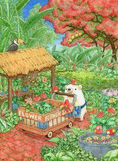 「南国の花屋さん」/「ちっぷ」のイラスト [pixiv]