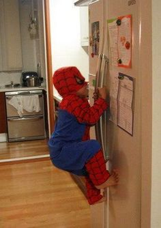 This is my son exactly !!! Hahaha his spidey sense is telling him there is telling him there is cereal close !!