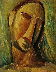 Pablo Picasso - Tête de Femme, 1908