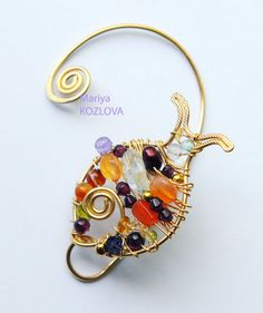 Left Ear Cuff Treasure Hunting Fish made to order by LotEarCuffs