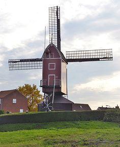 Flour mill (standerdmolen), Sint Annaland, the Netherlands