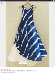 Inspiration for a layered indigo maxi-dress!