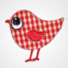 Red Gingham Bird