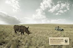 An ad from WWF-Australia imagines a world where the only rhinos are man made. http://wwf.panda.org/killthetrade
