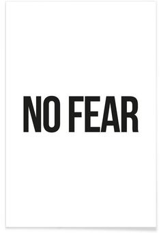 No Fear as Premium Poster by JUNIQE | JUNIQE