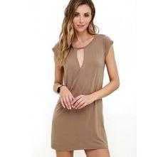 Fluidity Brown Wrap Dress | SHOP @ CollectiveStyles.com