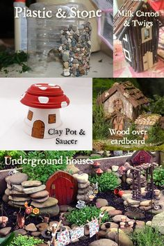 Fairy Garden Houses and how to make them. Useful hacks!