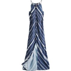 CALYPSO St. Barth Bavetta Stripe Maxi Dress ($339) ❤ liked on Polyvore featuring dresses, lightweight summer dresses, maxi dresses, blue striped dress, blue stripe dress and summer maxi dresses