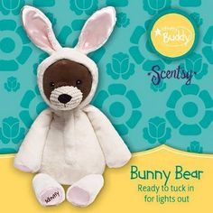 BUNNY BEAR Buddy ~ Comes with your choice of Scent Pak Buddies are excellent for Tooth Fairy pillows ORDER ONLINE ~ SHIPS DIRECT https://spollreisz.scentsy.us