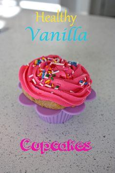 Healthy Vanilla Cupcakes - Busy But Healthy