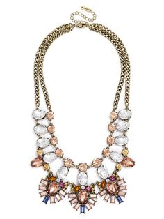Crystal Feather Bib Necklace | BaubleBar Get 5.6% cash back on all of your BaubleBar purchases with StuffDOT! #dotshopsave
