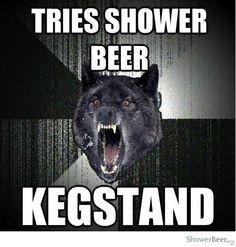 shower beer meme