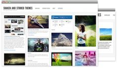 Shaken Grid Theme.  Clean...neat...everything lines up AS IT SHOULD.  #Wordpress