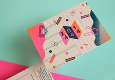 We just came across these super fun wedding invites and had to pass 'em along… Designer Marta Veludo from Amsterdam created these risograph invites in bright, fluorescent colors along with simple geometric shapes and clean lines. That highlighter pink + orange color scheme is rad, rad, rad. Probably one of the coolest ways to print …