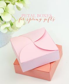 Petal box tutorial using circles and a square