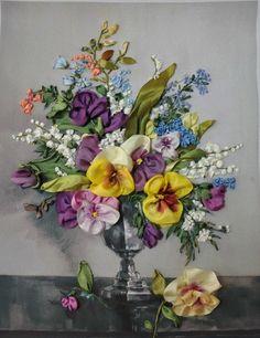 Gallery.ru / Valentina Razenkova - Розы, ландыши, анютки(фиалки), цветной горошек - Innetta