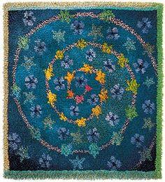 Sirkka Könönen rug design, 'Tähtipolku' (The Path of Stars) Rya rug. Rug Hooking Designs, Rug Hooking Patterns, Rya Rug, Latch Hook Rugs, Rug Inspiration, Hand Hooked Rugs, Woven Rug, Rug Making, Fabric Art