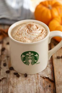 Starbucks Pumpkin Spice Latte - Now you know how to make it at home, saving you time, money and no doubt calories too.