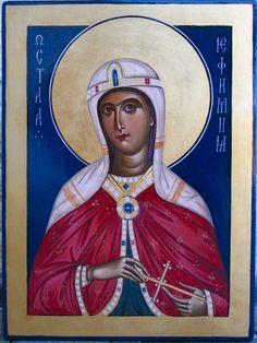 St. Euphemia - September 16 September 16, Orthodox Icons, Saints, Baseball Cards, Female