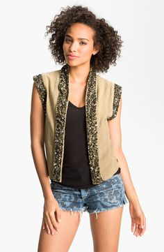 Black hair- black tank  Beige complexion- beige vest  Never wear beige solo, always with contrast.  You may feel washed out otherwise.  Imagine this look with a black ankle pant or black skinny?