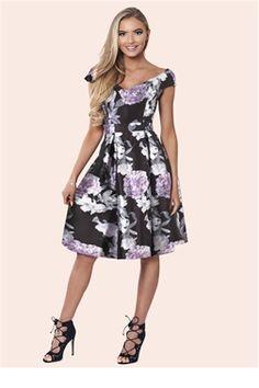 Sistaglam Hyacinth multi floral print dress