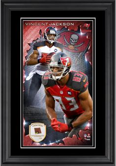 1044f3e08eb Mike Evans Tampa Bay Buccaneers x Vertical Framed Photograph with Piece of  Game-Used Football - Limited Edition of 250