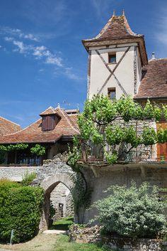 Loubressac village, departement du Lot, Midi-Pyrenees region, France