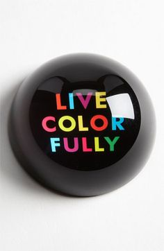 kate spade new york 'say the word - live colorfully' paperweight