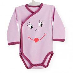 Body Smiley #body #bebe #invierno #rosa #violetta #cruzado #kinousses