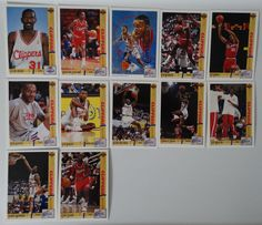 1991-92 Upper Deck Series 1 Los Angeles Clippers Team Set Of 12 Basketball Cards #LosAngelesClippers