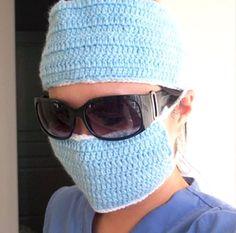 Let's Play Surgeon – Fun Crochet Cosplay Crochet Mask, Crochet Faces, Free Crochet, Knit Crochet, Crochet Crowd, Blanket Crochet, Free Knitting, Knitting Patterns, Crochet Patterns