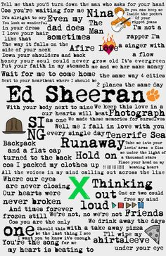 900 Ed Sheeran Music Song Lyrics Ideas Ed Sheeran Lyrics Ed Sheeran Lyrics