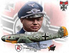 """Hans """"Assi"""" Hahn - Bf-109F-2 - III. Jagd Geschwader 2 """"Richtofen"""" 1941- 108 Abschüsse"""