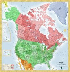 Get that prospective traveler ready by giving him this USA and Canada Wall Map.